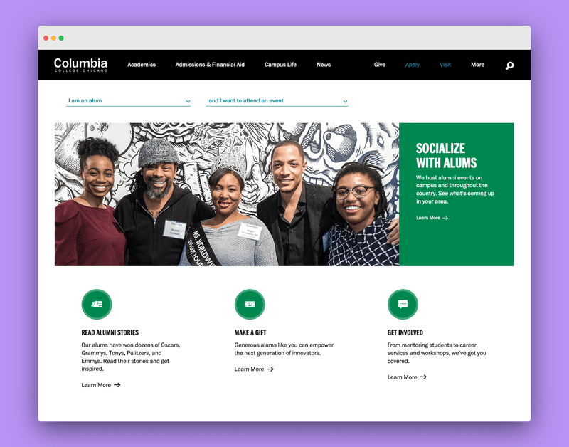 Columbia College Chicago Homepage